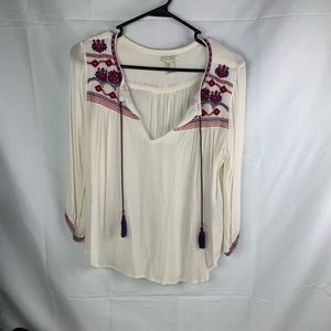 Forever 21 fall boho blouse size small